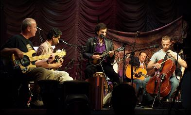 L-R  Robert Sollee, Harsha Sen, Michael Johnathon, James Monroe, Ben Sollee